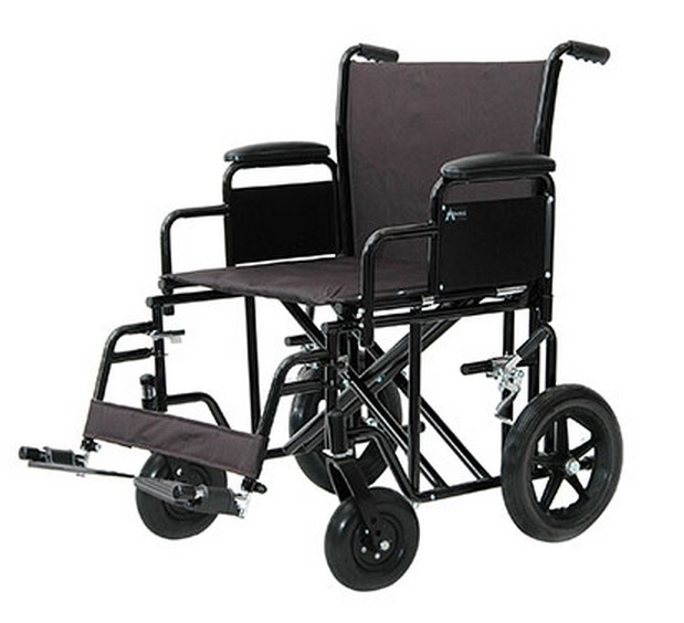 ProBasics Heavy-Duty Transport Wheelchair - Black - 1 Each / Each