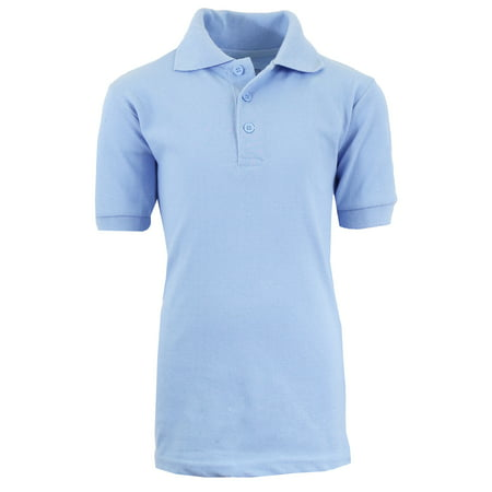 Boys Short Sleeve School Uniform Pique Polo Shirts - Sizes 4-20