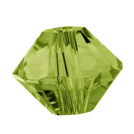 Olivine Austrian Crystal - Swarovski Crystal, #5328 Bicone Beads 3mm, 25 Pieces, Olivine