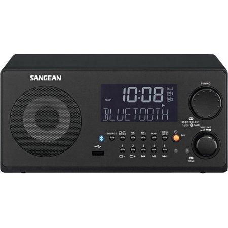 Sangean WR22BK FM-RBDS AM USB Bluetooth Digital Tabletop Radio with Remote by