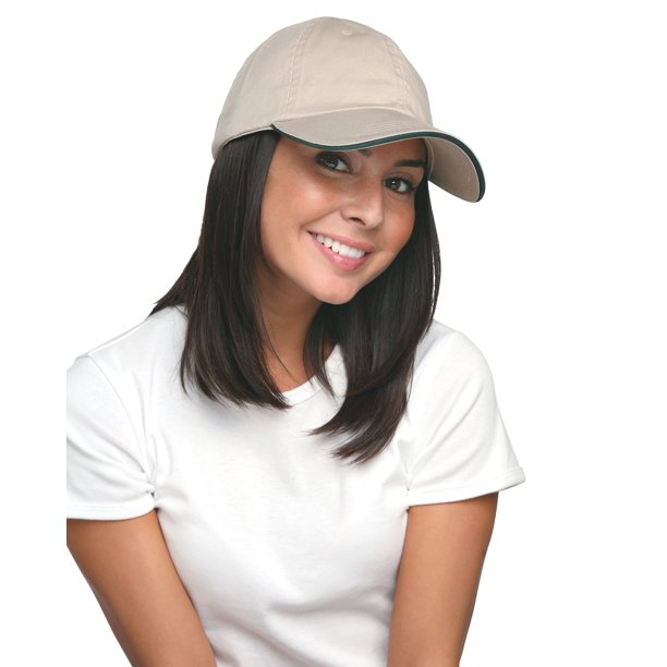 Bayside 100% Washed Cotton Unstructured Sandwich Cap - BA3617
