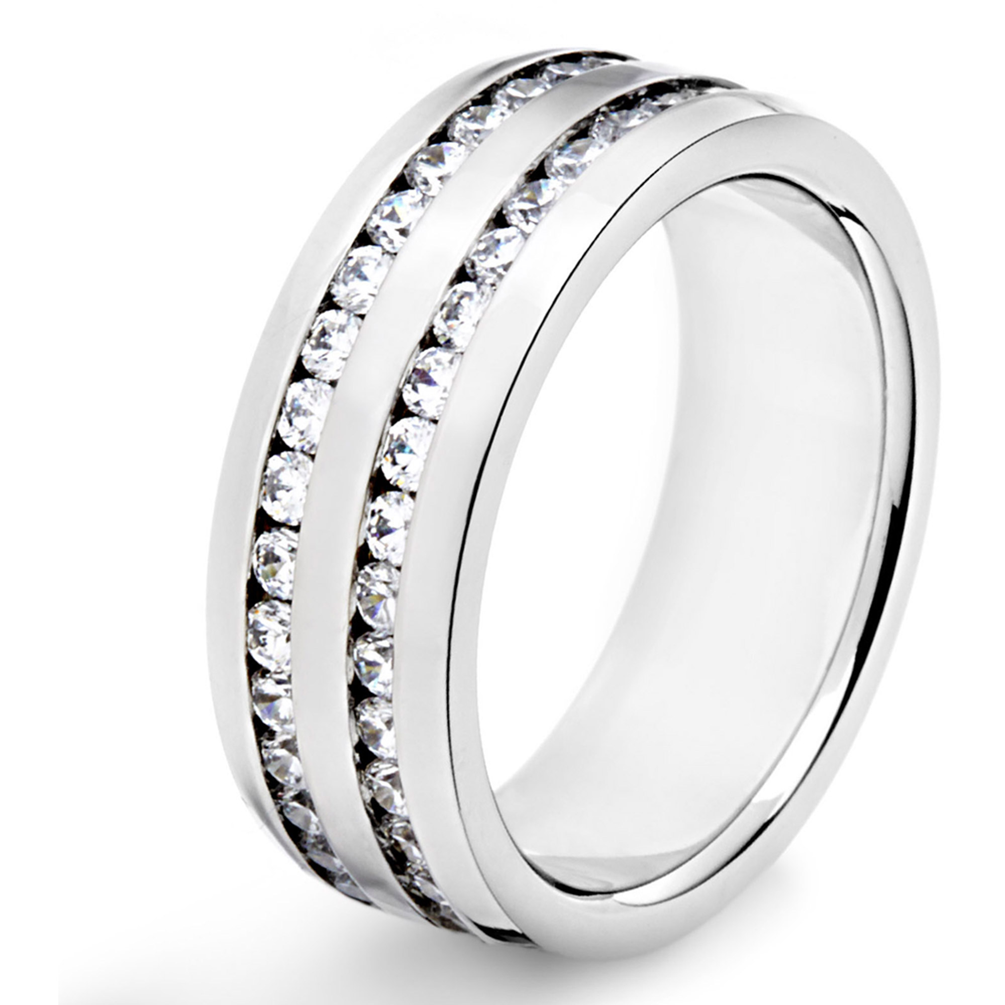 Crucible Stainless Steel CZ Ring