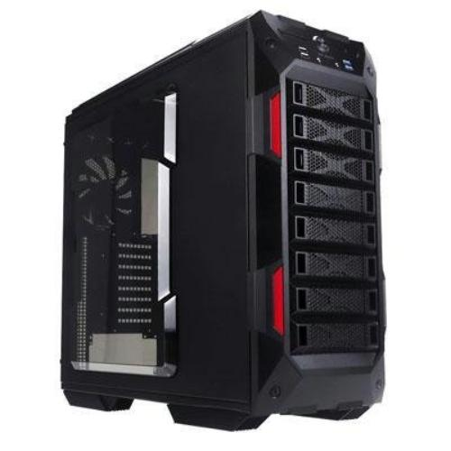 Inwin Development 158269 In-win Case Iw-grone Black Atx Full Tower 3/0/[8] Bays Usb Black Retail