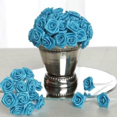 144 PCS Boutonniere Turquoise Rosebud Flower Applique DIY Brooch