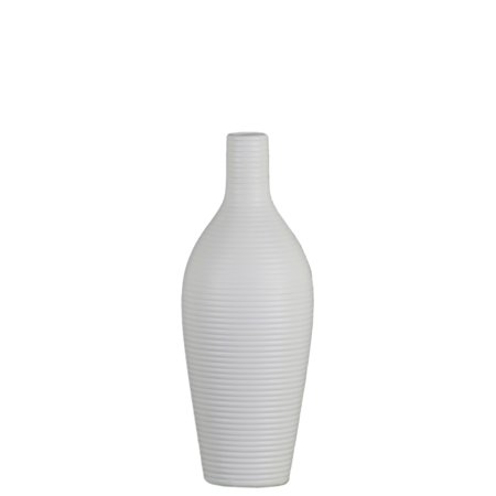 Urban Trends Collection  Ceramic Vase Matte Finish White