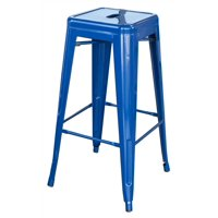 AmeriHome Loft Blue 30 in. Metal Bar Stool by Buffalo Corp