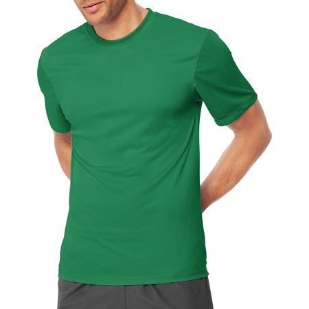Hanes sport men 39 s short sleeve cooldri performance tee 50 for Green mens t shirt
