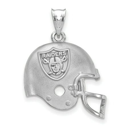 Oakland Raiders Sterling Silver Football Helmet Pendant - No (Oakland Raiders Football Helmet)