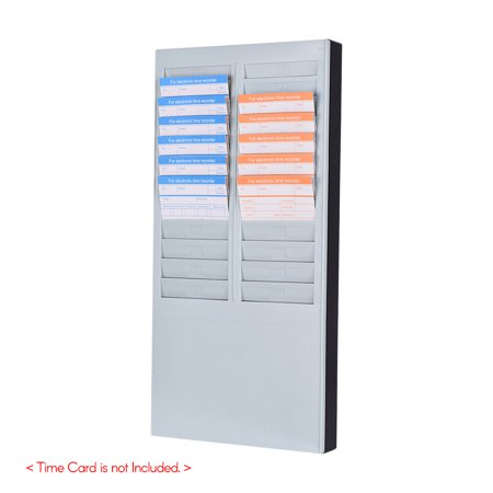 Recorder Rack - DOYO Time Card Rack Wall Mount Holder 24 Pocket Slot for Attendance Recorder Punch Time Office