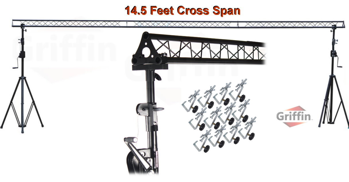 Crank Up Triangle Light Truss System By Griffin Dj Trussing Stand For Cans Speakers Pro Audio Stage Lighting Hardware Package Equipment