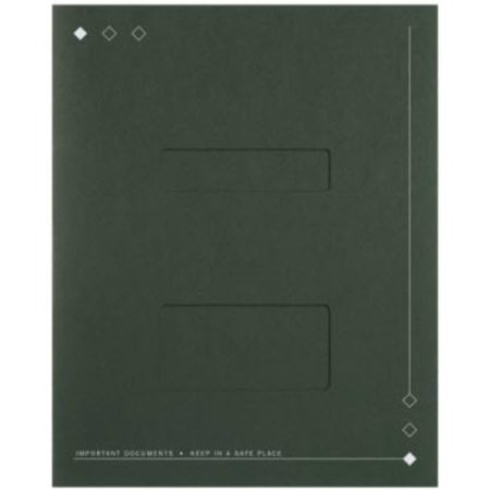 Side-Staple Folder with Windows, Forest -