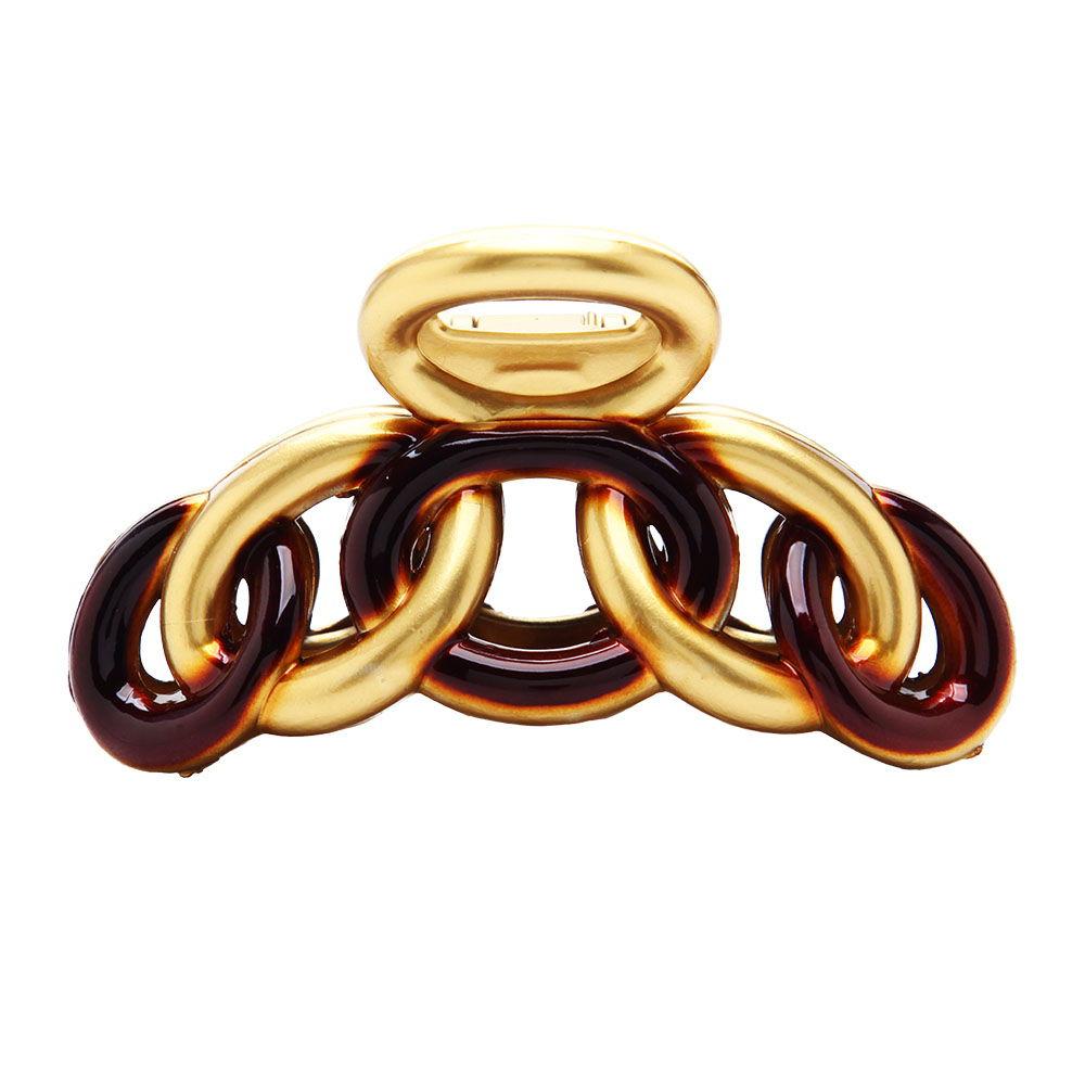 Caravan Chain Claw in Gold & Tortoise Shell Model No. 7753