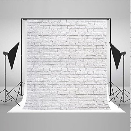 5x7ft White Brick Wall Photo Background Product Photography Backdrops Cloth Seamless Can be Washed - image 4 of 4