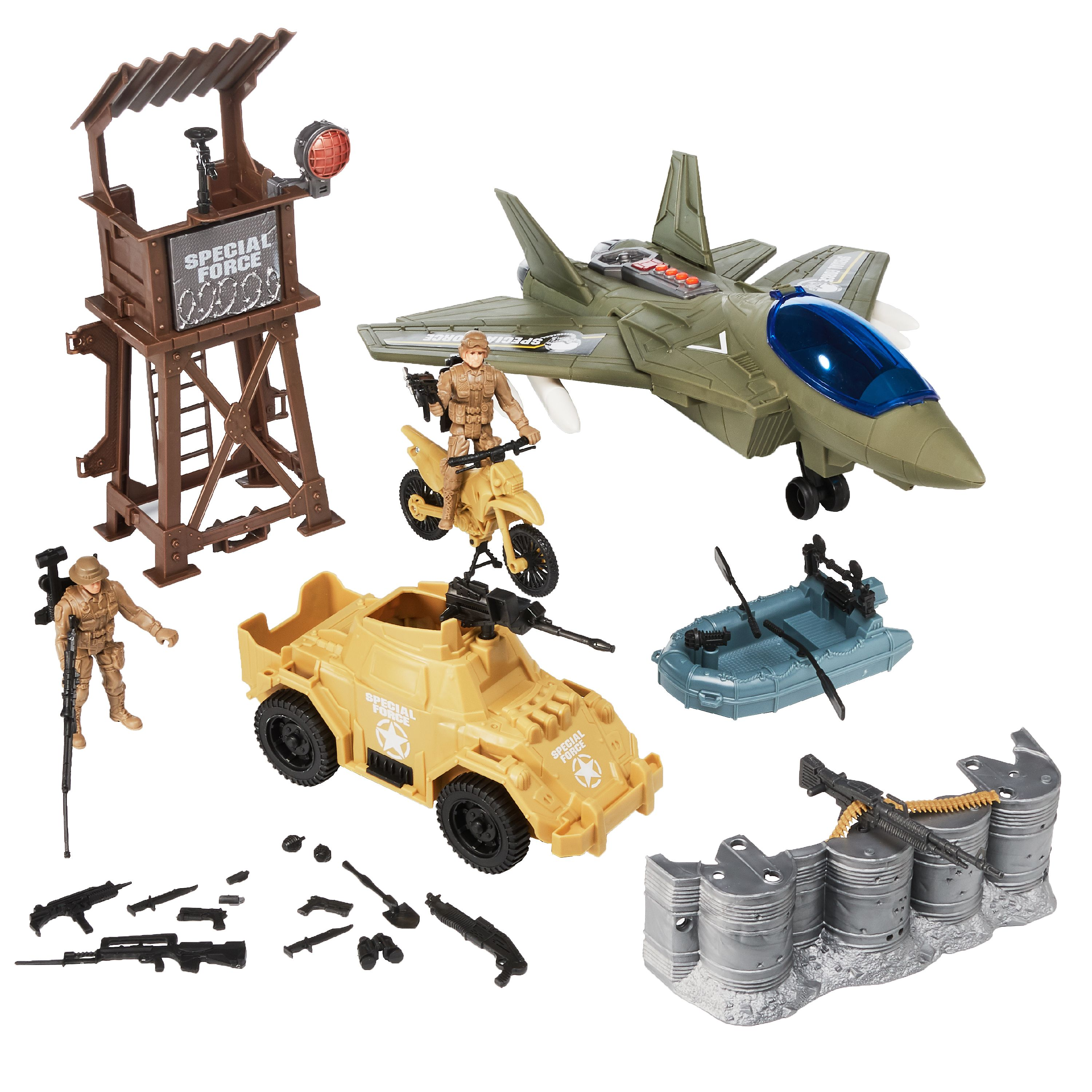 Kid Connection Military Plane Play Set, 34 Pieces