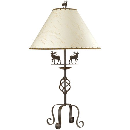 Table Lamps 1 Light Fixture With Rust Tone Finish Iron Material E26 19