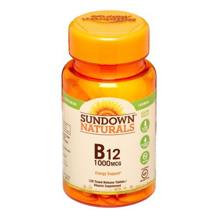 Sundown Naturals B12 Time Release Tablets, 1000 mcg, 120 (Best Natural Vitamin B Complex)