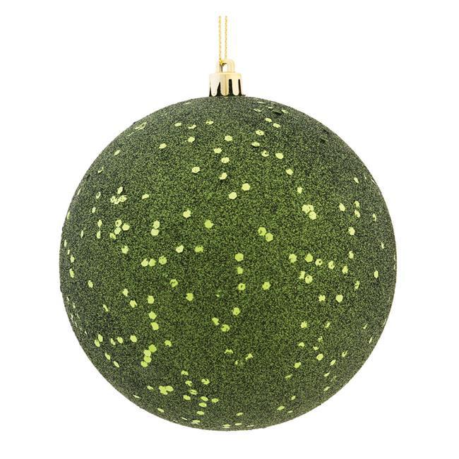Vickerman N592564DQ 10 in. Moss Green Sequin Drilled Cap Christmas Ornament Ball - image 1 de 1