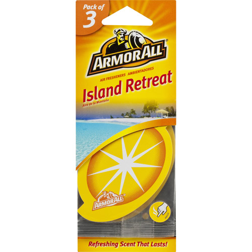 Armor All Air Freshening Cards, Island Retreat, 3pk