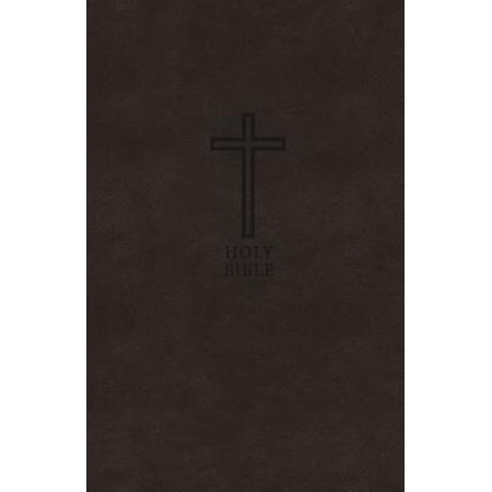 KJV, Value Thinline Bible, Compact, Imitation Leather, Black, Red Letter Edition