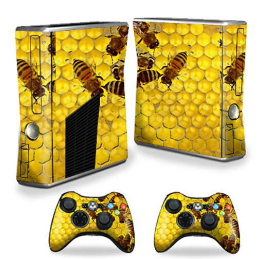 Mightyskins Protective Vinyl Skin Decal Cover for Microsoft Xbox 360 S Slim + 2 Controller skins wrap sticker skins Brown Butterfly