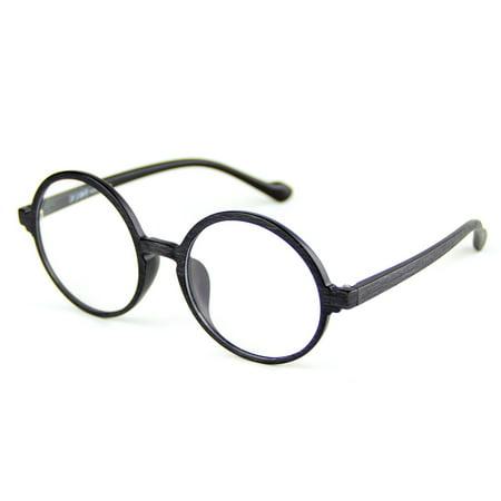 4a5e22e91f Cyxus TR90 Blue Light Filter Computer Glasses Clear Lens Matte Black Wood  Grain Round Frame Anti Eyestrain Lightweight Eyewear - Walmart.com