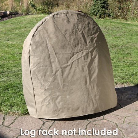 Outdoor Log Hoop (Sunnydaze Outdoor Firewood Log Rack Hoop Cover ONLY, Heavy-Duty, 24-Inch, Khaki)