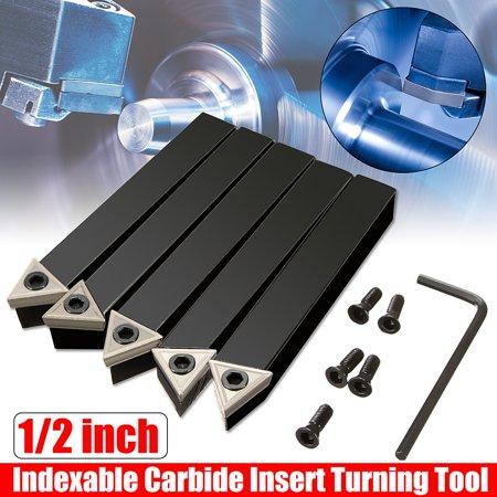 1/2'' Shank 10mm Lathe Indexable Carbide Insert Turning Tool Bit Set 5Pcs/box - image 6 of 11