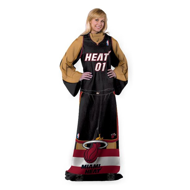 Miami Basketball Full NBA Heat Player Comfy Snuggie - The Blanket with Sleeves