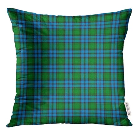 ARHOME Blue Abstract Patterned of The Clan Kerr Hunting Tartan Green Ancient Pillow Case 16x16 Inches Pillowcase - Kerr Curing Light