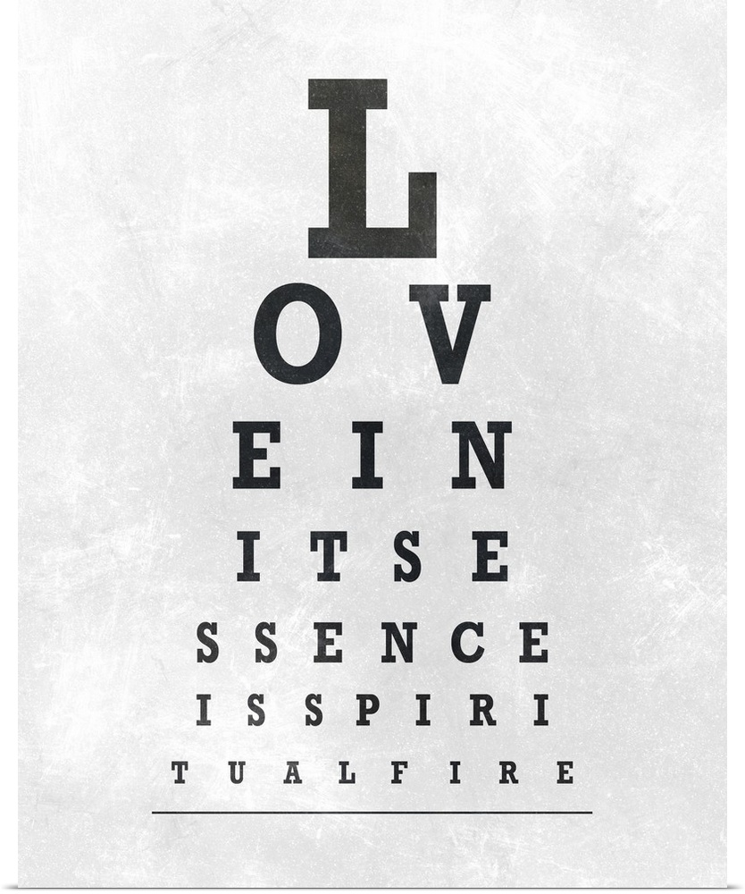 photograph regarding Printable Eye Chart named Best Large Canvas Rolled SD Graphics Studio Poster Print enled Eye Chart Typography I -
