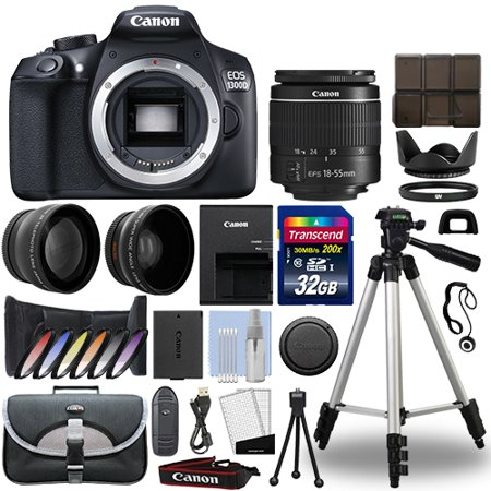 Canon EOS 1300D / Rebel T6 DSLR Camera + 18-55mm 3 Lens Kit+ 32GB Best Value