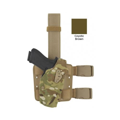 Image of Safariland 6354DO-832-741-MS19 Tact Thigh Holster Brown Kydex RH for Glock 17/22