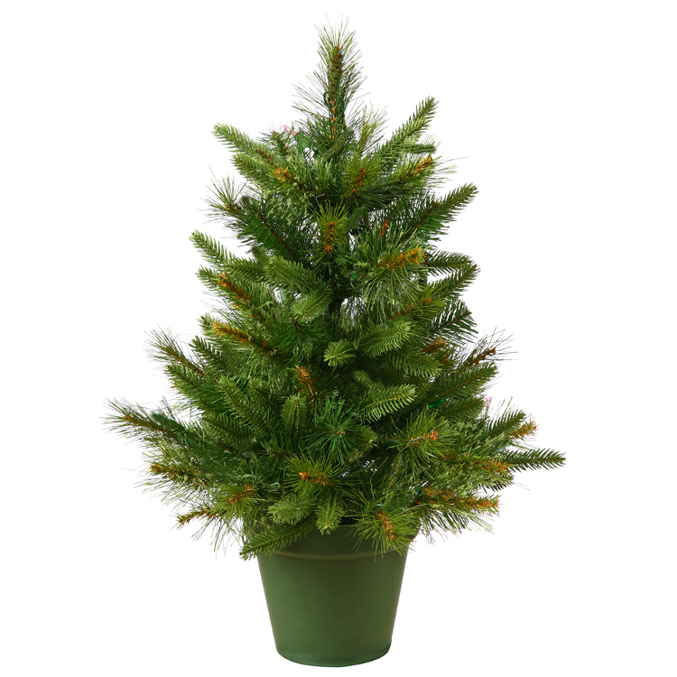 2' Potted Mixed Pine Cashmere Artificial Christmas Tree - Unlit