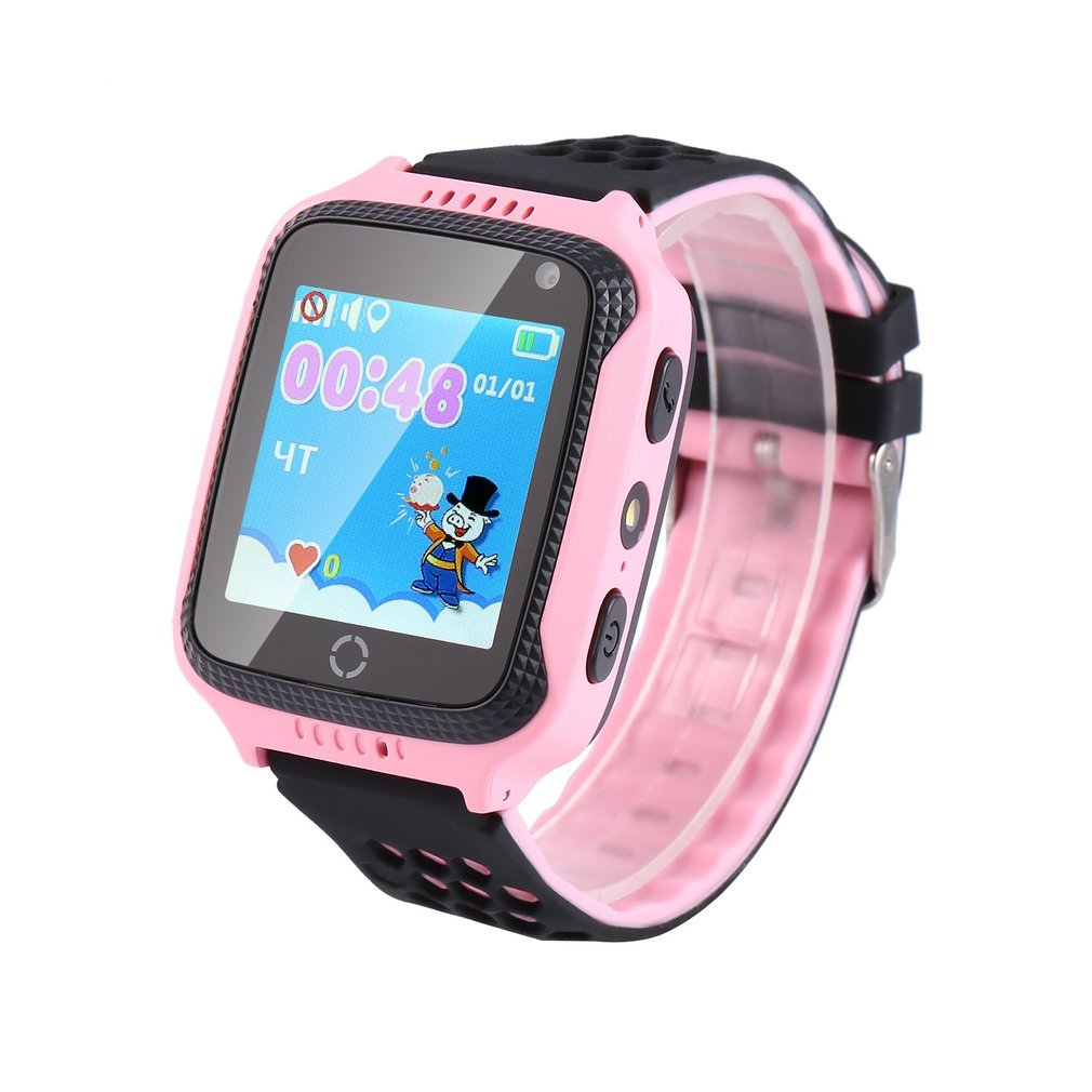 """Q528 Kids Smart Watch with Flashlight & Camera SOS Location Tracker GPS LBS Device 1.44"""" Touch Screen Baby Wrist Watch Call"""
