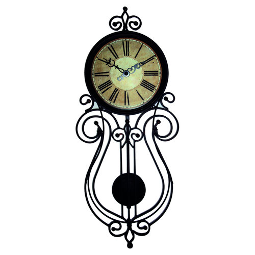 Better Homes and Gardens Wrought Iron Regulator Wall Clock