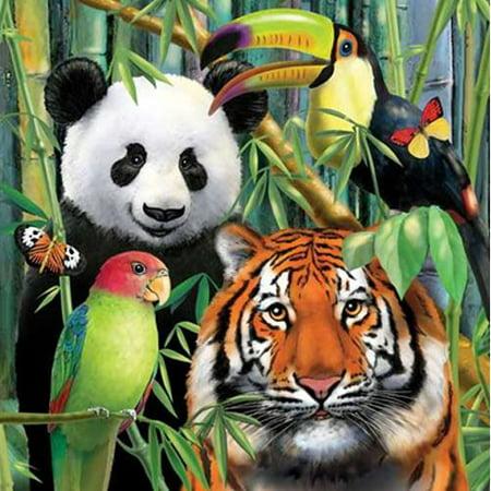 Jungle Animals 'Wild Animals' Lunch Napkins (16ct)