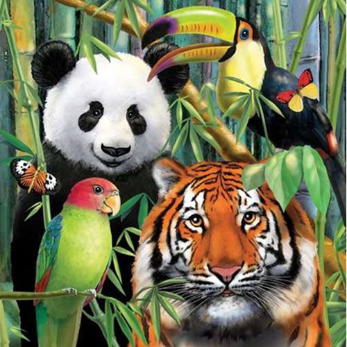 Jungle Animals 'Wild Animals' Lunch Napkins (16ct)