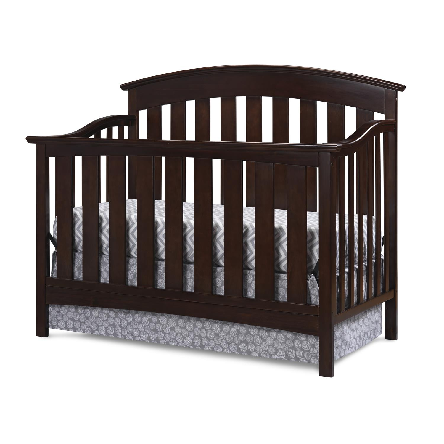 Storkcraft Hillcrest Fixed Side Convertible Crib Gray