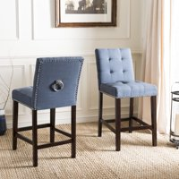 Safavieh Nikita 26.5 in. H Modern Counter Stool with Ring, Set of 2