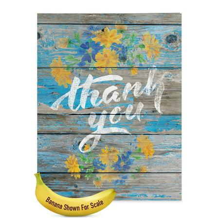 J6108CTYG Jumbo  Thank You Greeting Card: 'Blooming Driftwood' with Envelope (Extra Large Size: 8.5+ x 11+)](Superhero Thank You Cards)