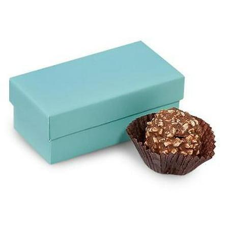1 Unit Double Truffle Boxes Aqua 3-1/4x1-5/8x1-1/4