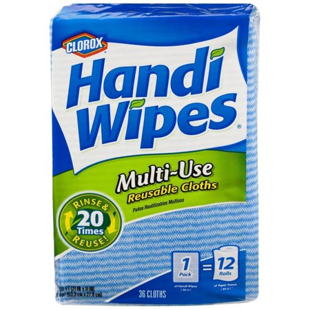 Clorox Handi Wipes 36Pack Multi -Use Reusable Cloths, Poly Cotton Cloths,