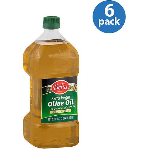 Bella Extra Virgin Olive Oil, 68 oz, (Pack of 6)