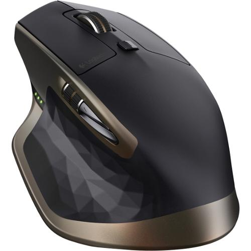 Logitech MX Master Wireless Mouse - Darkfield - Wireless - Radio Frequency - Black - USB - 1000 dpi - Scroll Wheel - 5 B