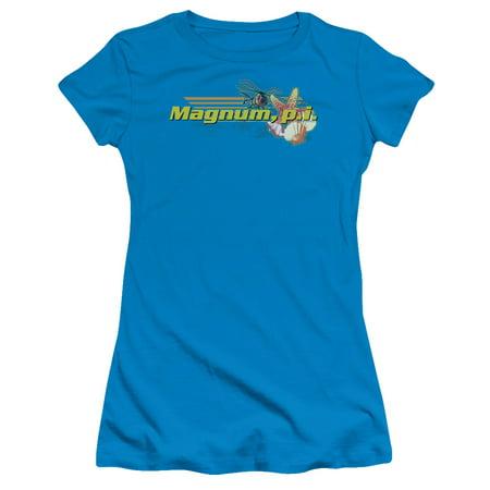 Magnum Pi/Hawaiian Life   S/S Junior Sheer   Turquoise     Nbc204