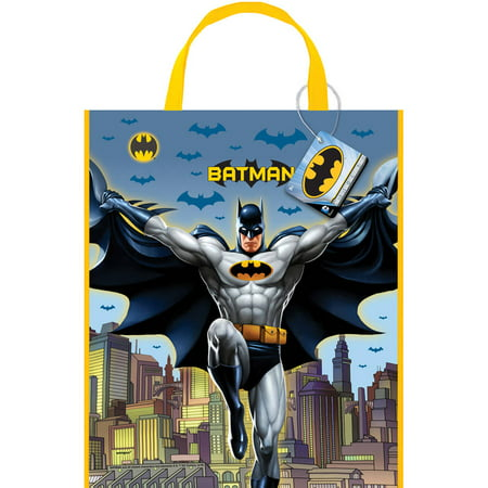 Large Plastic Batman Goodie Bag, 13 x 11 in, 1ct](Batman Goodie Bags)