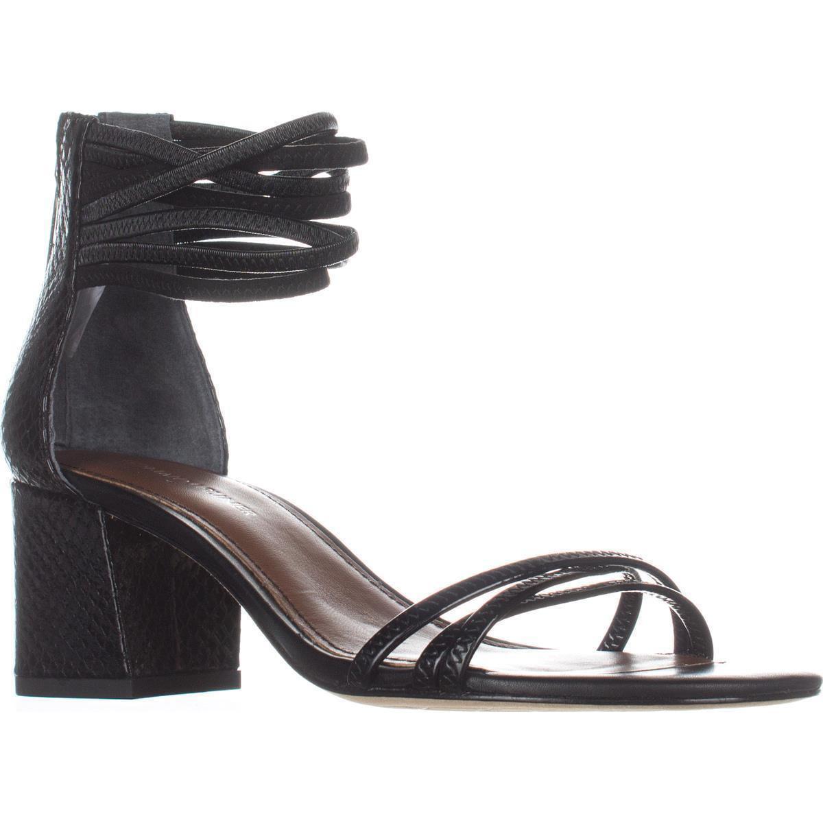 Womens Donald J Pliner Essie Ankle Strap Dress Sandals, Black Black by Donald J Pliner