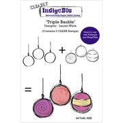"IndogoBlu Clear Stamp 5""X4""-Triple Bauble"