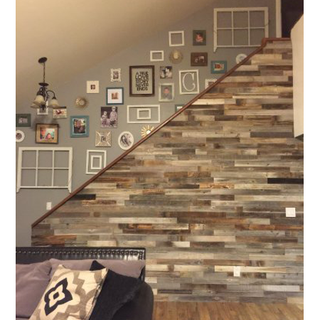 Allbarnwood Reclaimed Wood Wall Paneling Pack Of 10 Square Feet Barnwood Accent Ceiling Shiplap Plank Boards