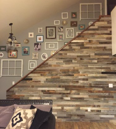 Genial AllBarnWood Reclaimed Wood Wall Paneling (Pack Of 10 Square Feet) Barnwood  Accent Wall/Ceiling Shiplap Plank Boards.   Walmart.com